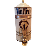 Early 1900s Columbia Kaffee Brass Display Tin