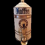 Early 1900s Columbia Kaffee Brass Display Tin