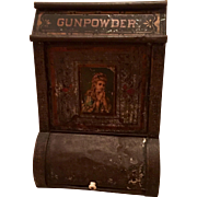 19th Century Antique Gunpowder Display Tea Tin