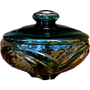 Vintage Val St. Lambert of Belgium Crystal Dish, Signed and Numbered