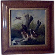 Original Signed Oil on Canvas George Armfield (1808 - 1893) Painting