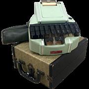 Vintage Stenography Machine in Original Case and Original Tripod