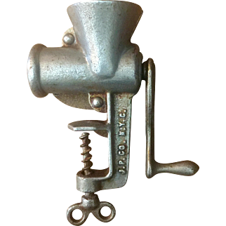 Vintage Rare JP Co NYC Salesman Sample  or Toy Meat Grinder