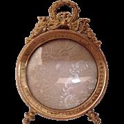 Antique French Miniature Ormolu Photo Frame C.1890