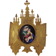 Antique French Icon or Altar ornament. C.1890