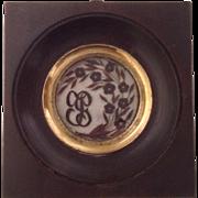 French Antique Miniature Hair Art Memento Souvenir. 19th Century