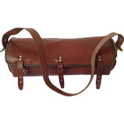 Fabulous French Vintage Leather Tool Bag. c.1940