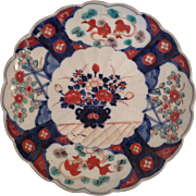 Beautiful Japanese Imari Scalloped Edge Plate. C.1880