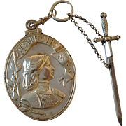 French Joan Of Arc Pendant Mirror & Dunrandal Sword Tooth Pick