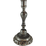 Rare Early 18th Century French Pewter Candlestick
