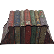 Huntley and Palmer Vintage Biscuit Tin in the Form of Books. 1909.