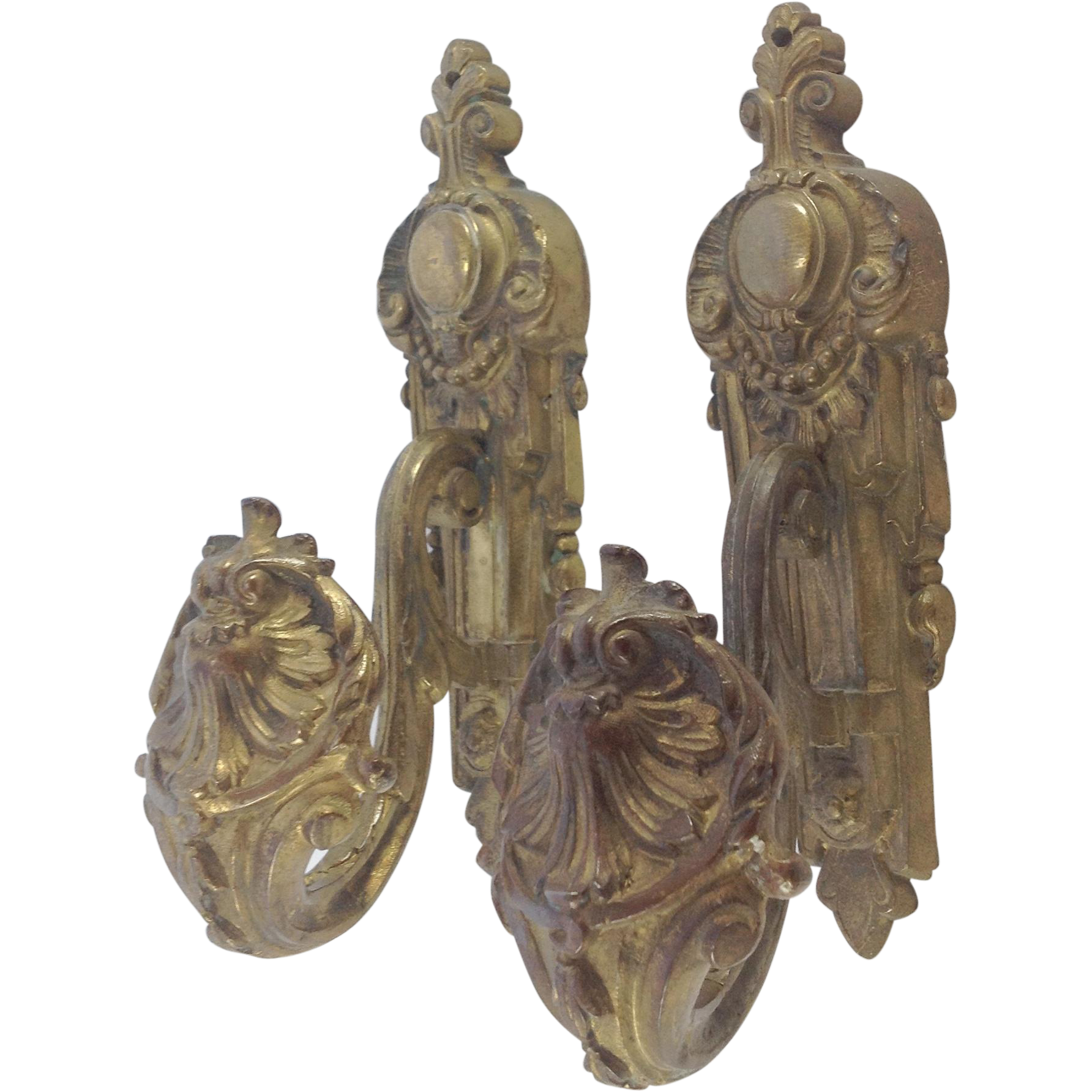 Decorative Pair Of French Gilt Metal Ormolu Curtain Tie Backs From Myfrenchattic On Ruby Lane