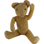 14 inch Vintage Straw Filled, Jointed Teddy Bear 1930's -1940's