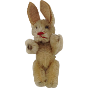 Adorable Vintage Schuco Jointed Mohair Rabbit.