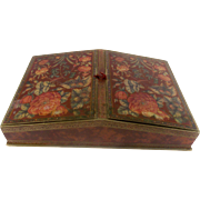 Rare Stunning Old French Chocolate Box. Chinoiserie Floral Decoration. Superb Condition. C.1910