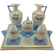 Beautiful French Condiment Set / Cruet. Made in Germany by Victoria.