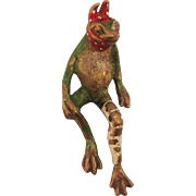 Unusual Austrian Cold Painted Injured Frog. Early 20th Century.
