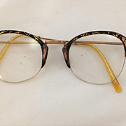 Stylish Pair of Vintage Retro Spectacles. Gold Filled and Acetate Frames. C.1940s / 50s