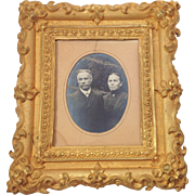 Beautiful 19th Century French Gilded Repoussé Frame and Albumen Print Photograph.