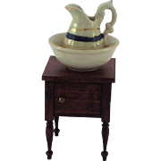 Vintage Miniature Porcelain Doll-house Water Jug & Bowl. C1900