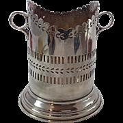 Super Antique Edwardian Silver Plate Wine Coaster. C. 1901