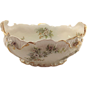G. D & Cie Limoges Salad Bowl. 19th Century. Rococo Style.