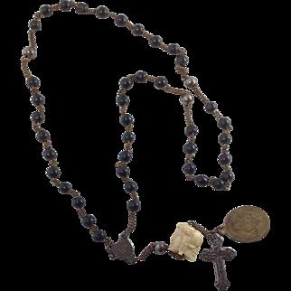 Antique Skull Paternoster/ Rosary 17th Century