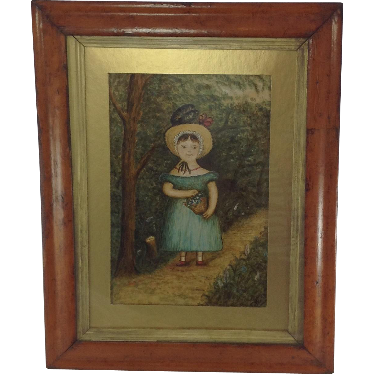 Fabulous Primitive Oil Painting On Board Signed And Dated