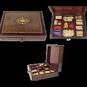Superb Napoleon III Inlaid Games Compendium Box.