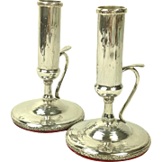 Superb Sterling Silver Candlesticks C.1900