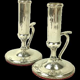 Superb Sterling Silver Candlesticks C.1900