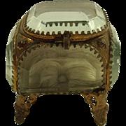French Glass Casket / Jewel Box C1880