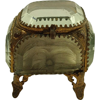French Glass Casket / Jewel Box C1880