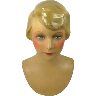 French girl mannequin head by Siegel of Paris.1925-1935.