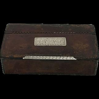 18th Century Georgian Leather Snuff Box C.1780