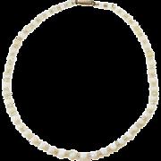 Art Deco Opal Bead Necklace