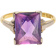 Art Deco Alexandrite Solitaire Ring