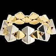 1930s Art Deco Two-Tone Gold Geometric Bracelet