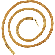 Georgian 18k Gold Snake-Link Chain