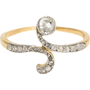 Art Nouveau Diamond Swirl Ring