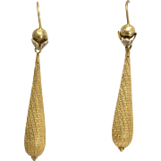 Victorian 15k Gold Torpedo Earrings