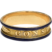 "Georgian Enamelled ""Constante"" Ring"