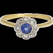 Edwardian Sapphire & Diamond Daisy Ring
