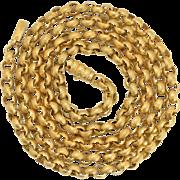 "Antique 15k Gold Georgian Guard Chain 32"""