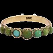 Georgian Turquoise Half Eternity Ring
