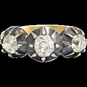 Antique Georgian Old Cut Diamond Three-Stone Ring
