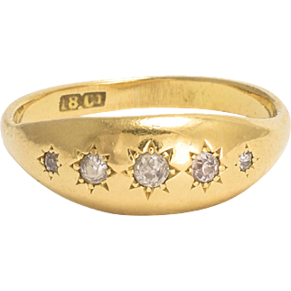 Victorian Star-Set Diamond Gypsy Ring