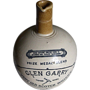 Vintage Glen Garry Whisky Jug ca. 1900 Port Dundas Pottery Co. Scotland