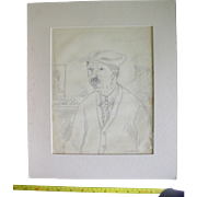 Original signed charcoal drawing sketch Peggy Bacon ca. 1929 Cartoon caricature