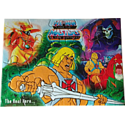 He-Man and the Masters of the Universe MOTU India Unused Puzzle featuring Castle GraySkull Sword Of Power Orko Battle Cat